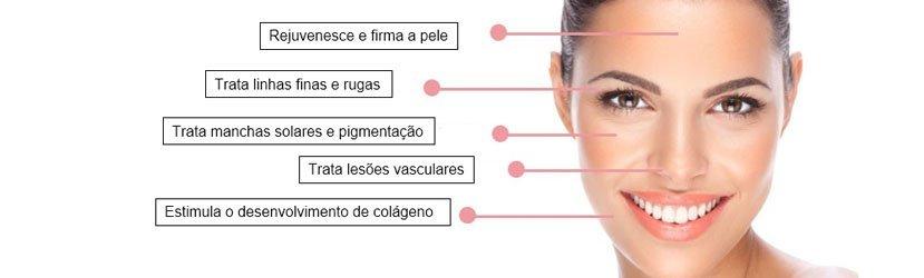 Exemplos de Indicação na Face do Laser