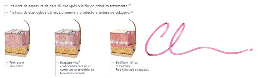 Ilustração Demonstrando o Efeito na Pele Após a Aplicação do Skinbooster