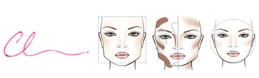 Ilustração do Afinamento do Rosto Feminino Após o Tratamento