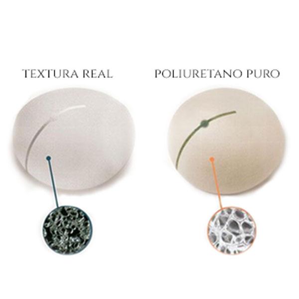 Ilustração de uma Prótese de Mama Texturizado e de Poliuretano